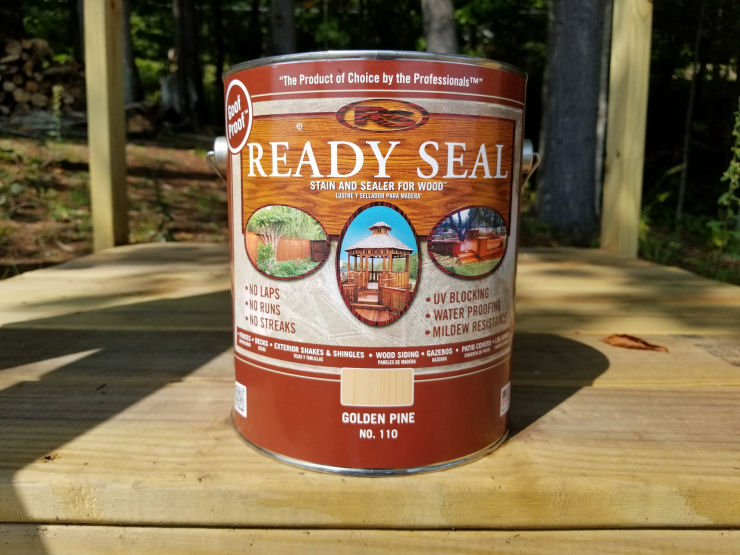 Gallon of Ready Seal deck stain, Golden Pine