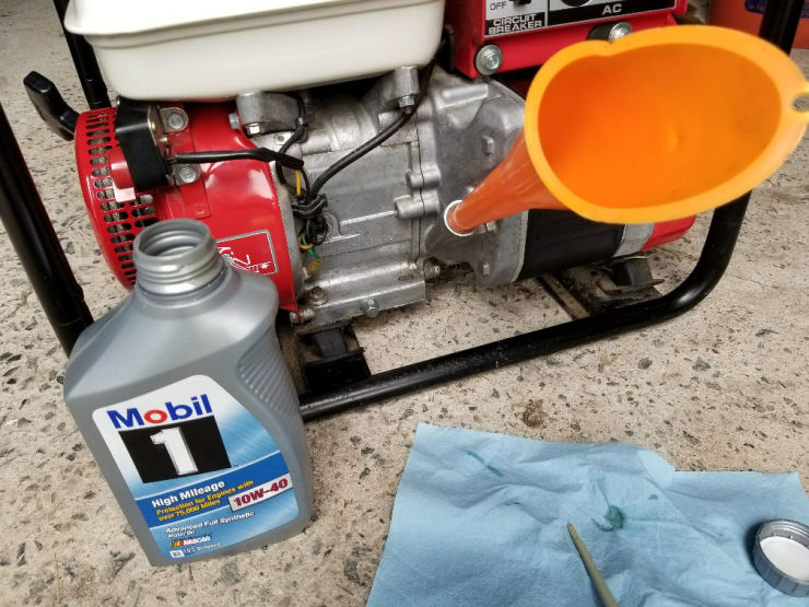 Generator will not start troubleshooting tips, Mobile One Synthetic oil in old Honda Generator