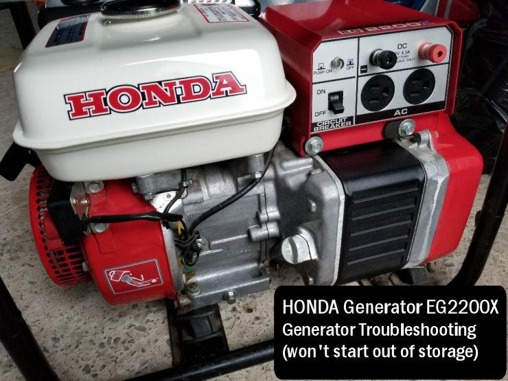 Honda Generator Troubleshooting tips, Honda EG2200X generator won't start
